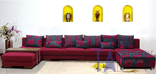 Sofa góc đóng mới theo yêu cầu TA013