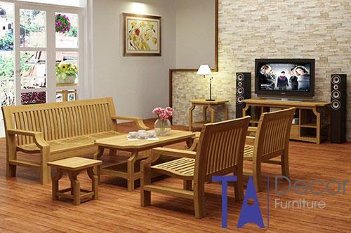 Bàn ghế gỗ TA001