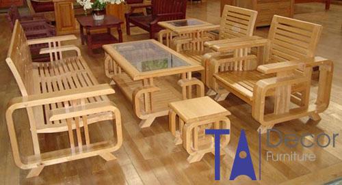 Bàn ghế gỗ TA002