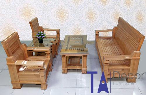 Bàn ghế gỗ TA004