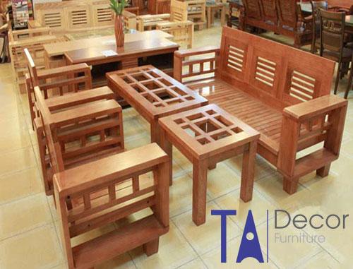 Bàn ghế gỗ TA005