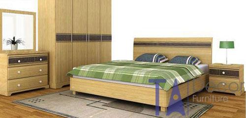 Giường gỗ đôi TA 003